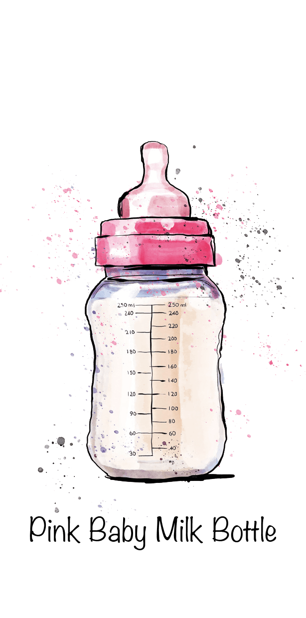 Pink Baby Milk Bottle