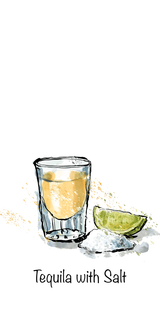 Tequila with salt