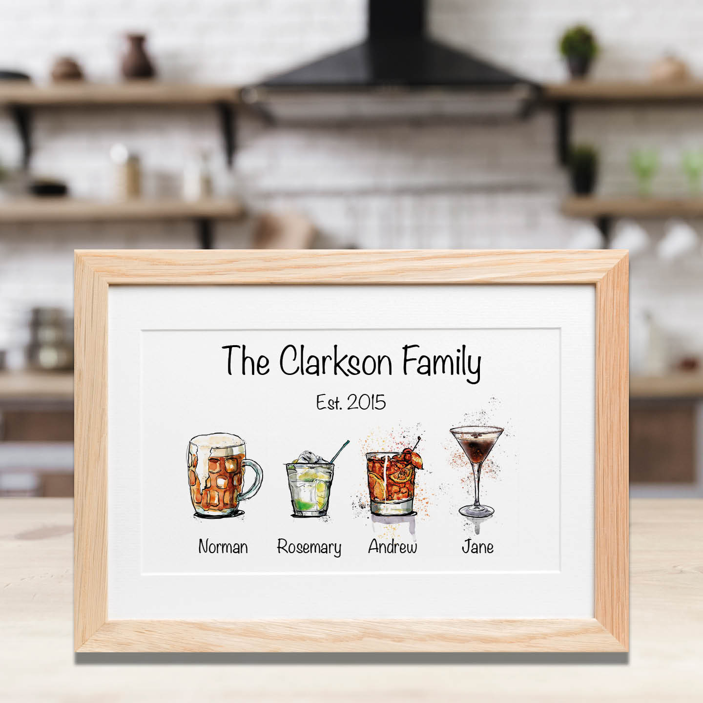 Family of Drinks Print