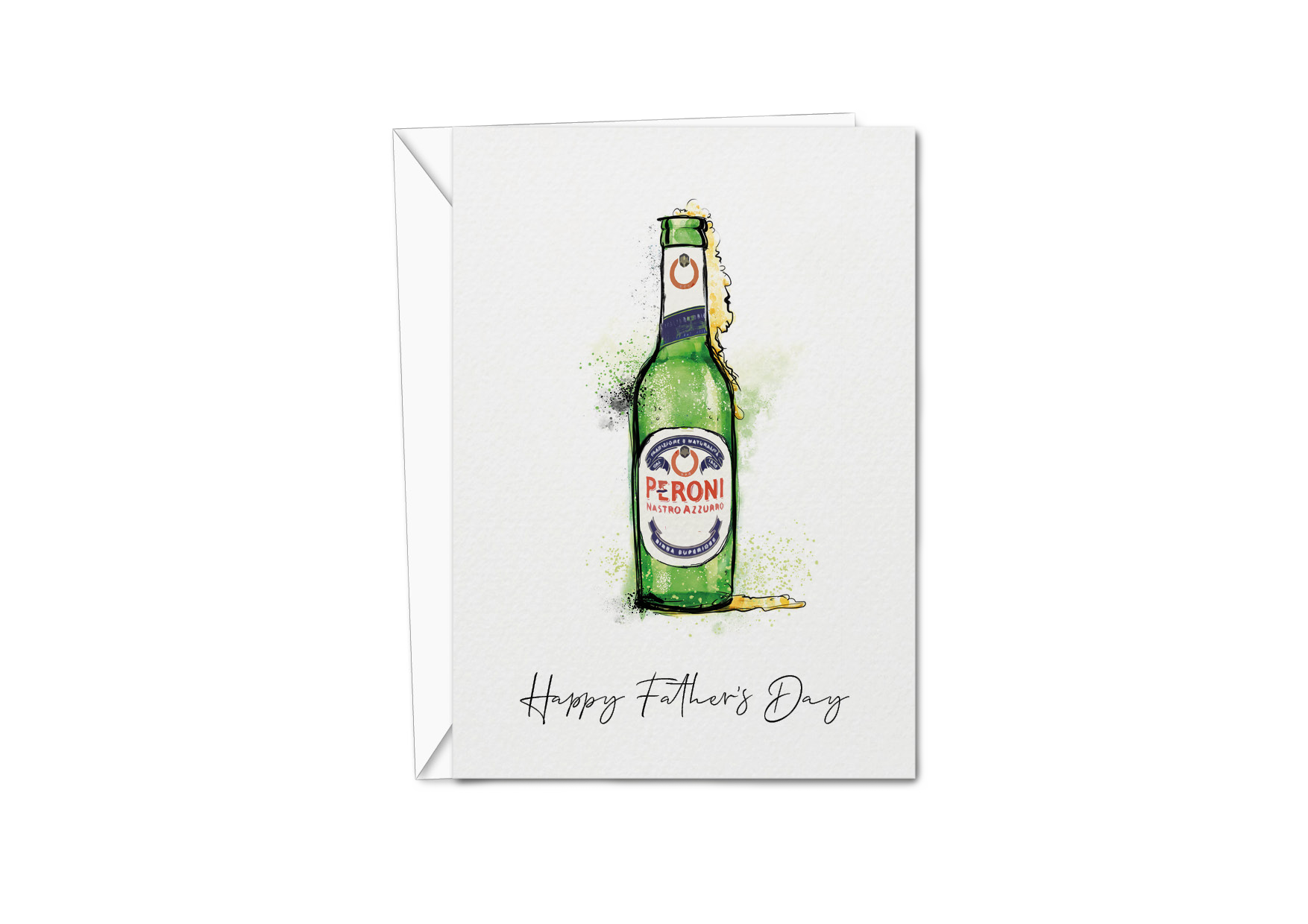 Father's Day Card - Peroni Bottle